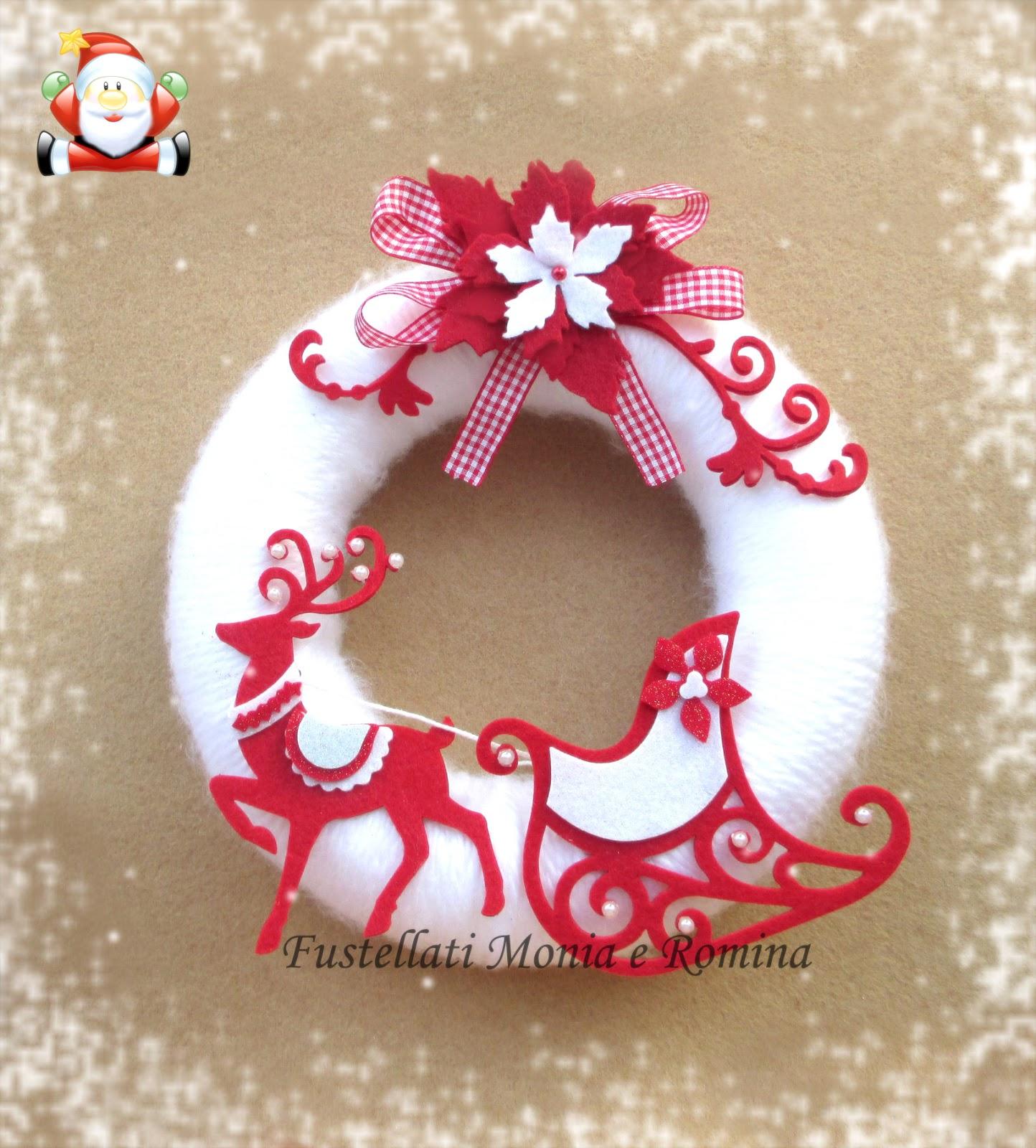 Fustellati monia e romina forme in feltro pannolenci e for Decorazioni da tavolo natalizie