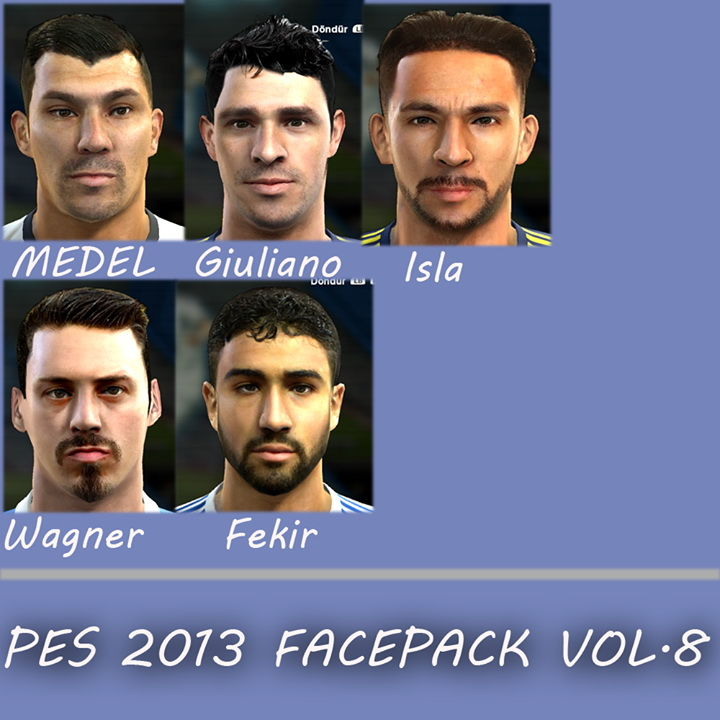 Pes 2013 FacePack Vo.8 by ManiaC Army FaceMaker