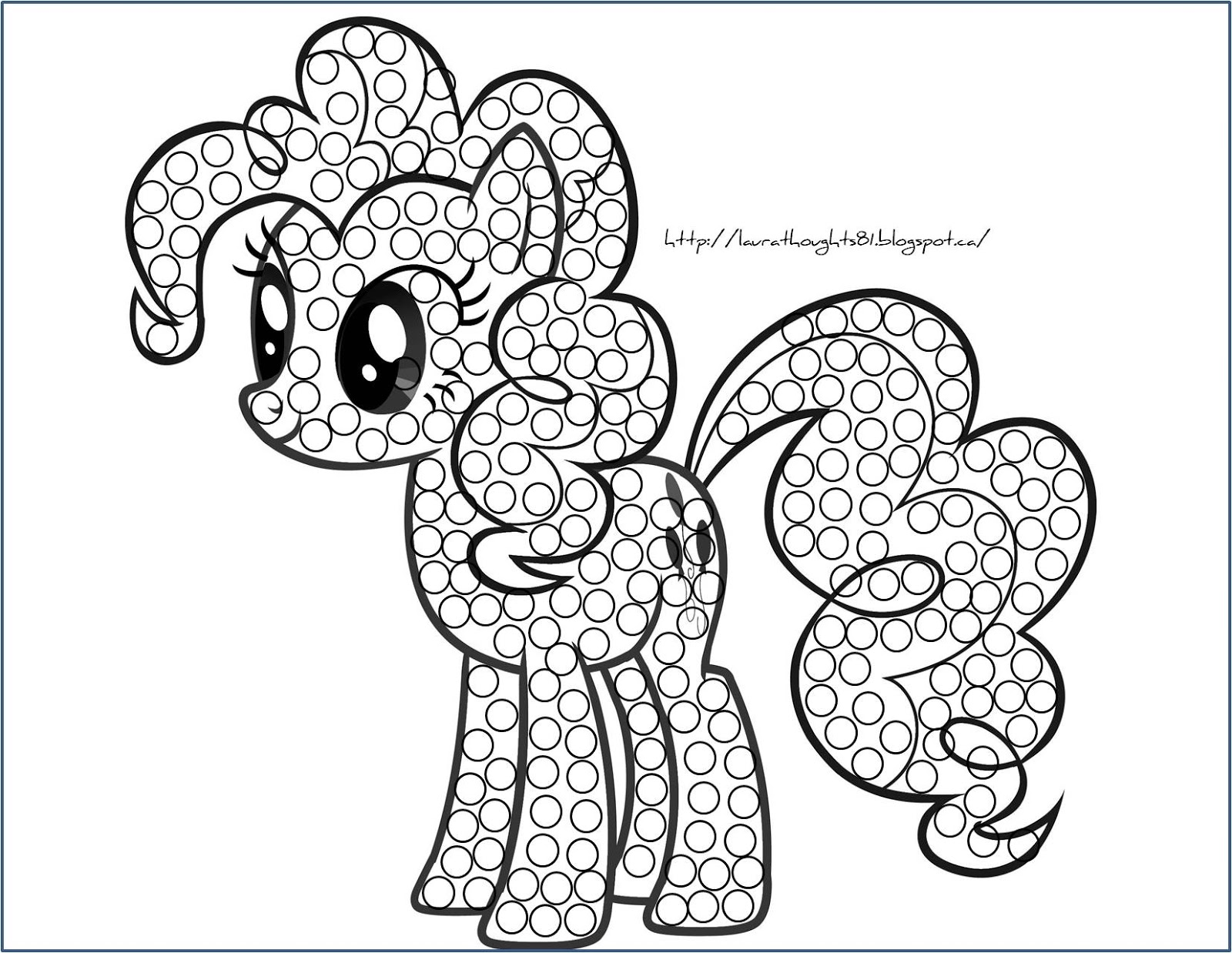 Laura Thoughts My Little Pony Q Tip Painting