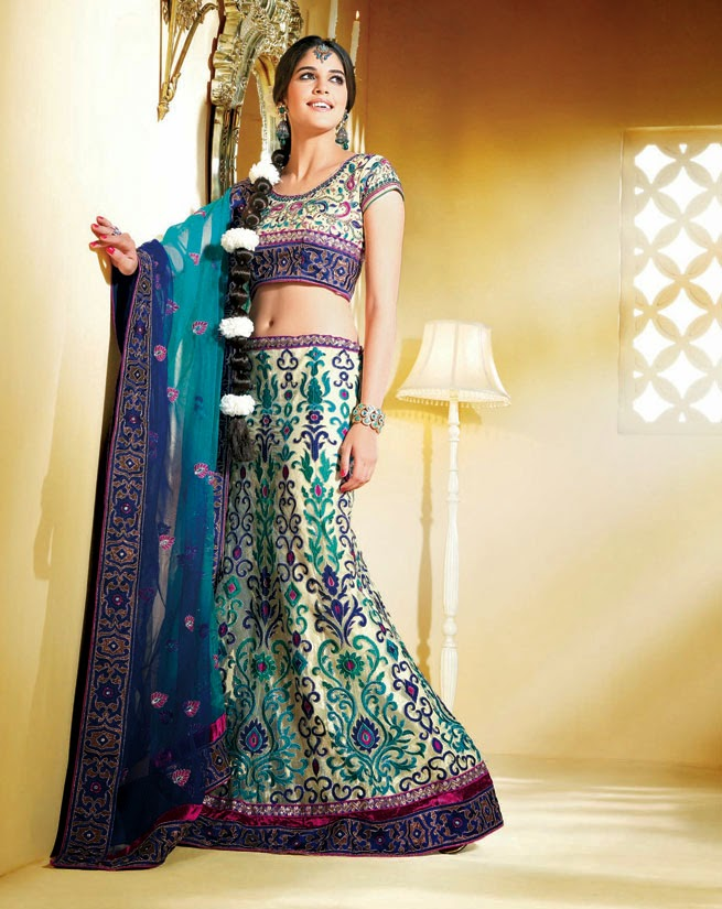 Woman S Clothing India Pattu Pavadai Reshme Langa