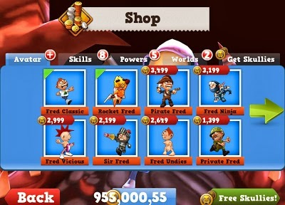 Download Free Running Fred (All Versions) Hack Unlimited Skullies 100% Working and Tested for IOS and Android MOD.