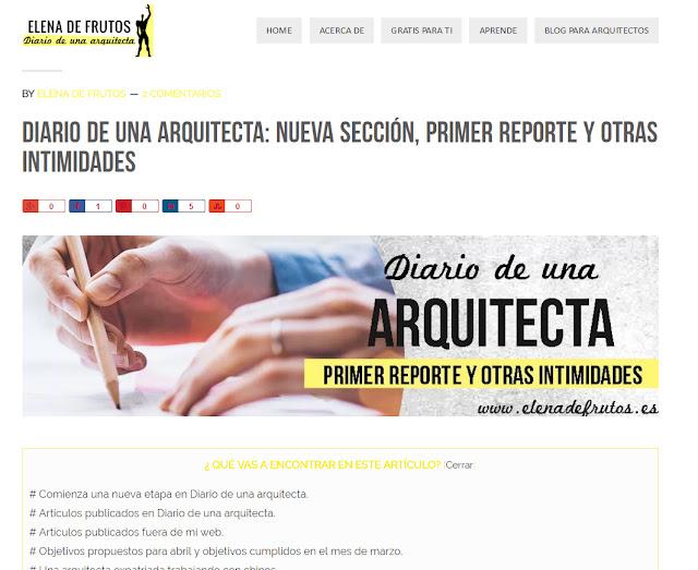 Elena de Frutos de Diario de una Arquitecta por Sf23 arquitectos Segovia