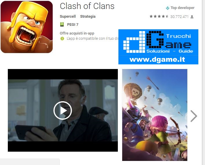 Trucchi Clash of Clans Mod Apk Android v8.551.24