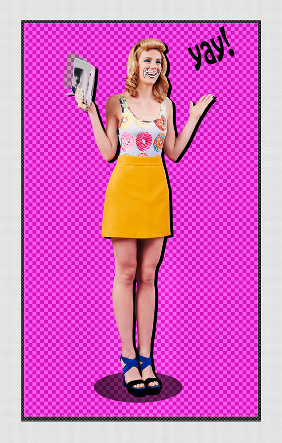 pop art style editorial photo clara copley