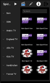 NEW SPIDER TV : IPTV APK USA / UK / ARABIC/ & MORE WITH WORLD VOD