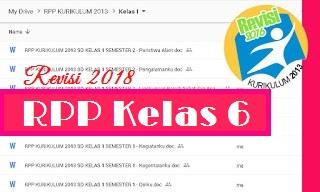 RPP Kelas 6 Kurikulum 2013 Revisi 2018 Semester 2 Tema Bumiku