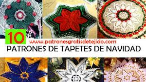 10 Patrones de Tapetes Navideños a Crochet / Carpetas Tejidas para Navidad