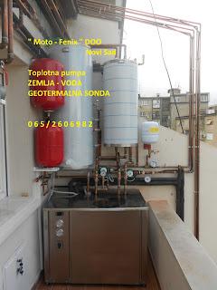 Toplotna pumpa, zemlja - voda, geotermalne sonde