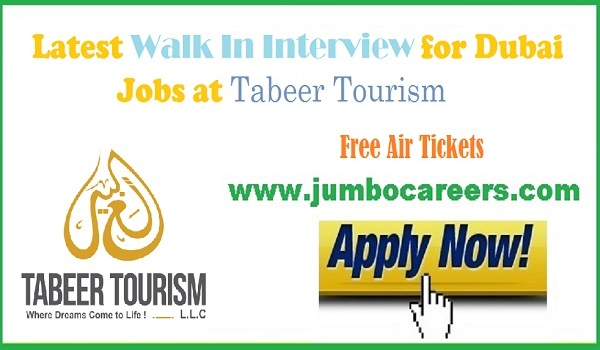 Available jobs opportunity in Dubai, Tabeer Tourism jobs for Graphic designers,