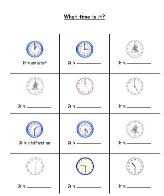 Materi Bahasa Inggris untu Anak Level 1 (Usia 7 - 9 Tahun): Telling Time (Membaca Waktu)