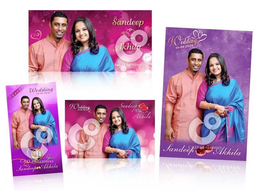 C O Ad Ventures Wedding Poster Thanks Card Design