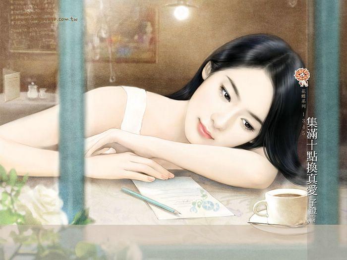 Beautiful Chinese Girl Painting Wallpaper Beautiful Illustrations Of Sweet Chinese Girls