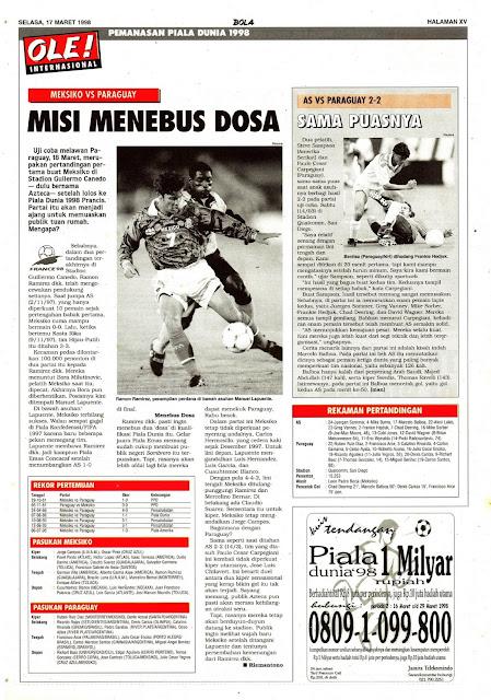 JELANG PIALA DUNIA 1998: MEKSIKO VS PARAGUAY