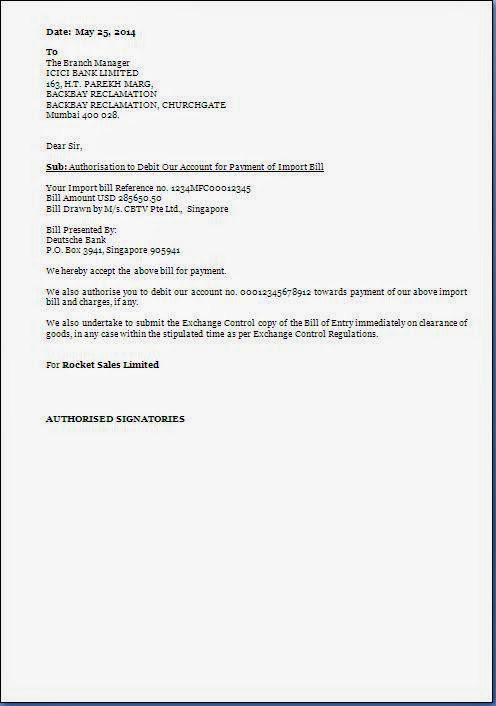 authorization letter for bank transactions