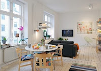 ruang tamu apartemen minimalis