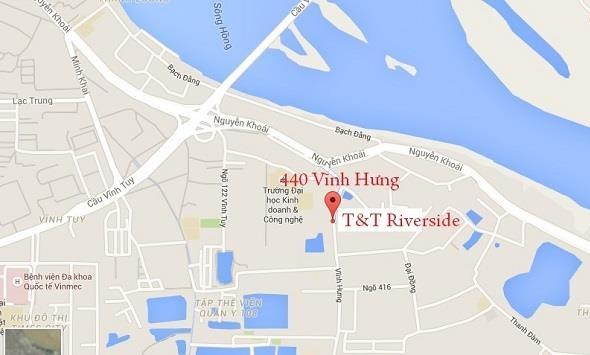Vị trí dự án chung cư T&T Riverside