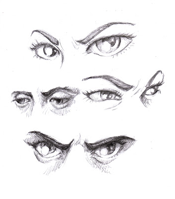 mad anime eyes sketch coloring page