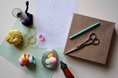 Matériel pour réaliser le lapin en tricotin