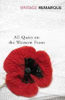 Book cover of All Quiet on the Western Front by Remarque, poppy
