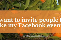 I want to invite people to like my Facebook event.