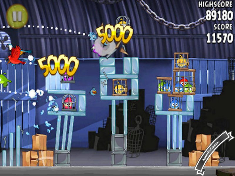 Angry Birds Rio Screenshots