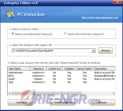 PCUnlocker WinPE 3.8.0 Enterprise Edition Terbaru