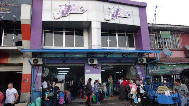 Kantor JJ Bus Aung Mingalar Highway Bus Station