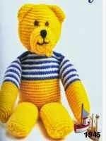 patron gratis oso amigurumi de punto | free knit amigurumi pattern bear