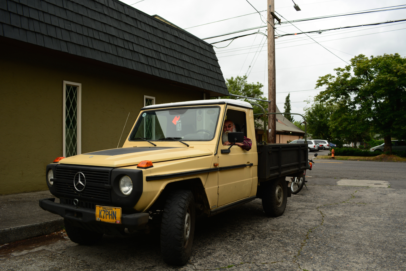old parked cars 1980 mercedes benz 300gd pickup truck