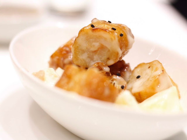 Pineapple Shrimp with Crullers