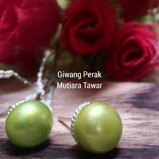 Giwang Perak Mutiara Tawar Lombok