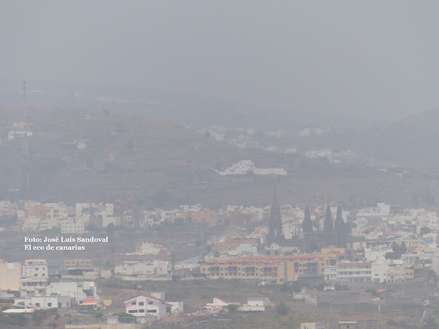 vídeo fotos calima sobre canarias 23 junio