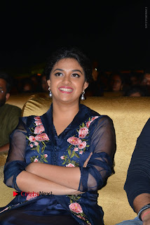 Actress Keerthi Suresh Stills in Blue Long Dress at Nenu Local Audio Launch  0050.JPG