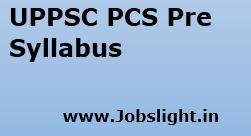 UPPSC PCS Pre Syllabus 2017