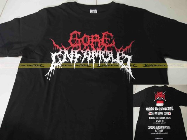 T-Shirt GORE INFAMOUS - Japan Tour 2018 ( Logo Red )