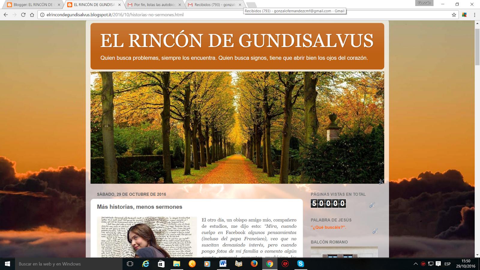 El Rincon De Gundisalvus Octubre 2016