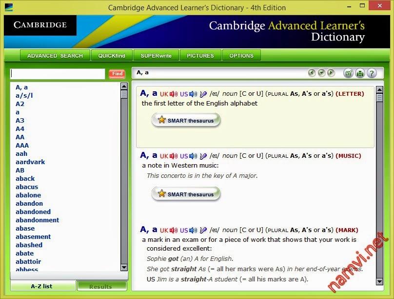 Cambridge Advanced Learner's Dictionary 4th Edition CDROM