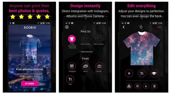 aplikasi android desain kaos distro