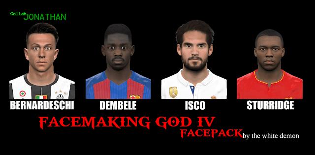 PES 2017 FACEMAKING GOD IV FACEPACK