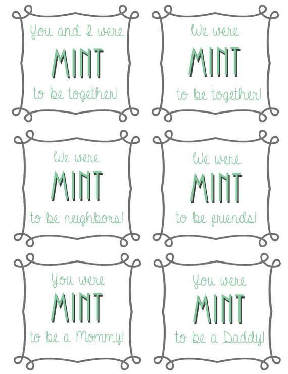 Mint Themed Gift Ideas with Free Printable Tags! - Pretty