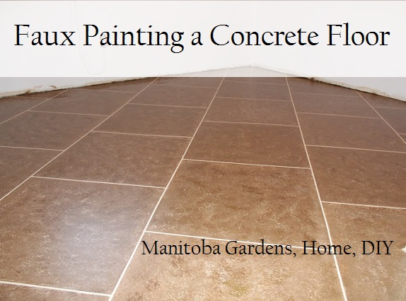 manitoba gardens faux painting a concrete floor