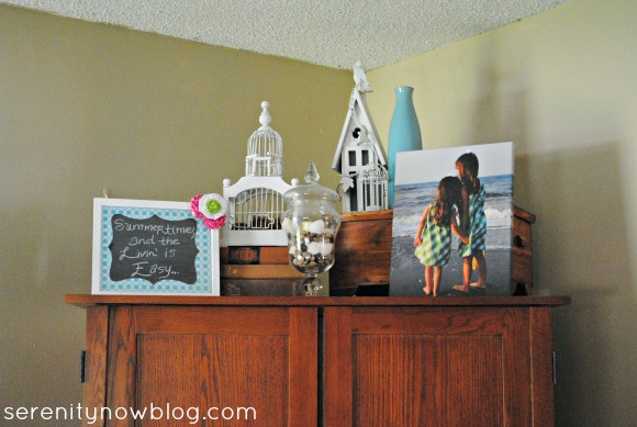 Summer Mantel, Serenity Now blog