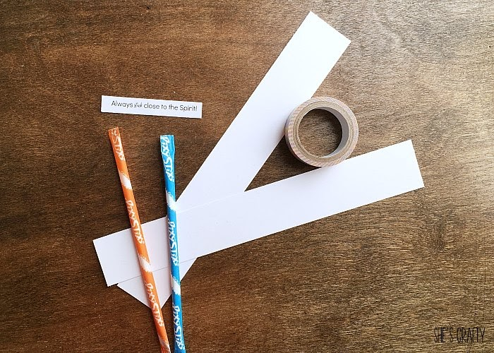 Easy and Inexpensive Girls Camp handouts, pillow treats or tuck in treats- Stick close to the spirit- pixie sticks