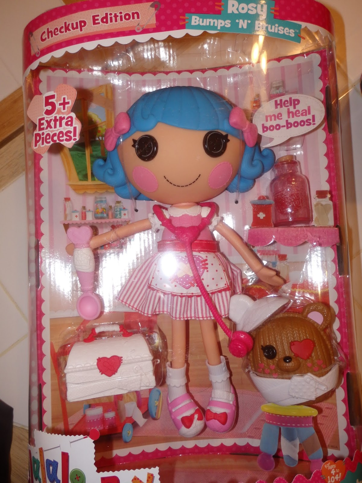 Her Dress Is Made To Look Like A Candy Strippers Gown With Pink Stripes And Cute Little She Also Has Pretty Bows In Beautiful Blue Hair