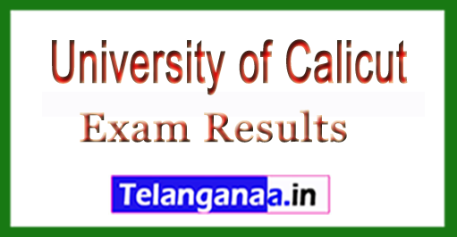 University of Calicut MBA Ist Sem (CCSS) 2018 Exam Results