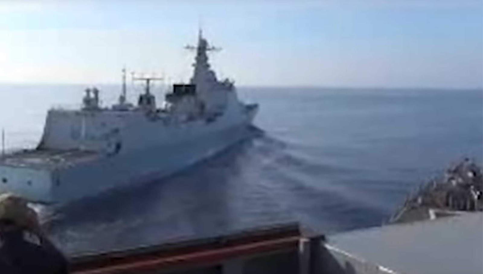 Video tentang konvergensi berbahaya kapal perang AS dan Cina dipublikasikan