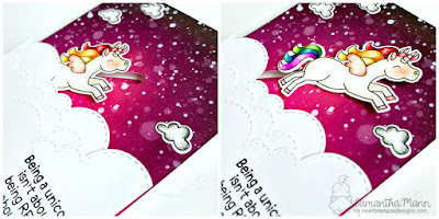 Being a Unicorn Card by Samantha Mann, Newton's Nook Designs, Interactive, Distress Ink, #distressink, #interactive #handmadecard #unicorns