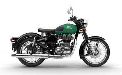 New Royal Enfild classic 350 Redditch Green side profile image