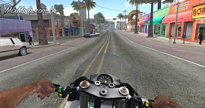 gta sa mod first person drive dirigir moto em primeira pessoa guidão