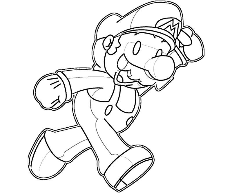 7 super mario coloring page Pit Super Smash 3DS 7 super mario coloring page